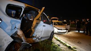 """Polisin """"dur"""" ihtarına uymayan alkollü sürücü kaza yapınca yakalandı"""
