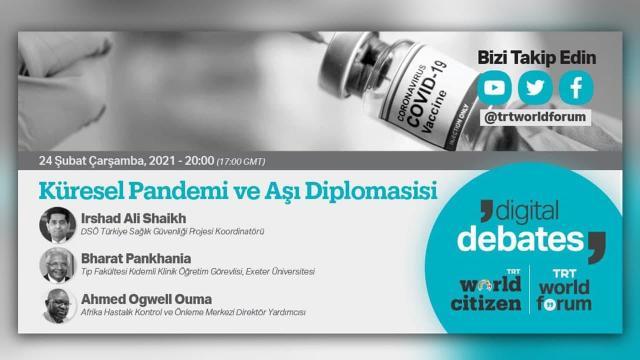"""TRT World Forum """"Dijital Tartışmalar""""da küresel pandemi ve aşı diplomasisi konuşulacak"""