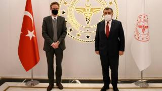 Bakan Koca, AB Türkiye Delegasyonu Başkanı ile görüştü