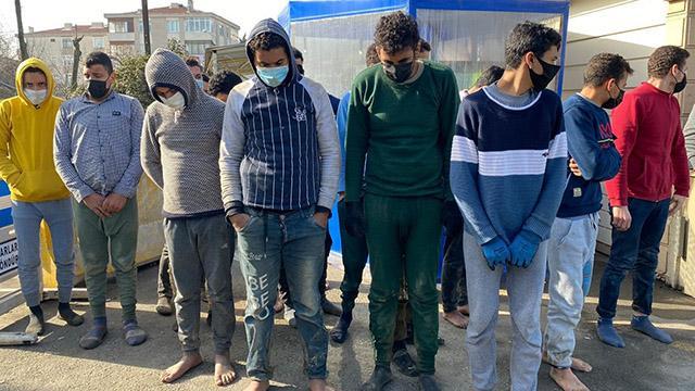 Silivride 18 düzensiz göçmen yakalandı