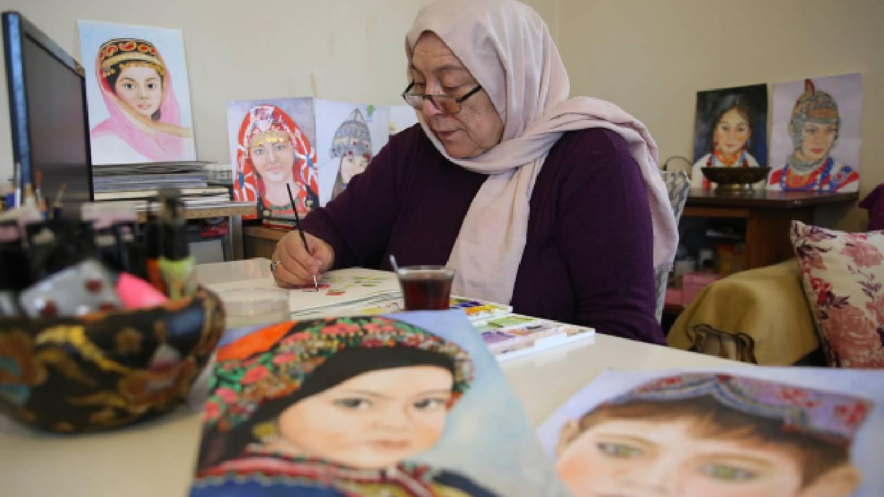 'Ressamlık' hayalini emekli olunca gerçekleştirdi