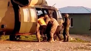 Ağır yaralı çocuk Kara Kuvvetleri'nin helikopteriyle hastaneye kaldırıldı