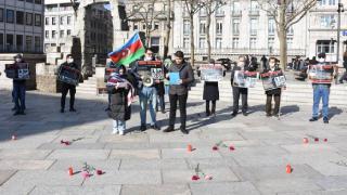 Hocalı katliamı 29. yılında Almanya'da protesto edildi