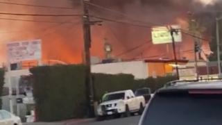 ABD'de yangın: Otobüsler küle döndü