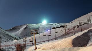 Palandöken Kayak Merkezi'nde gece