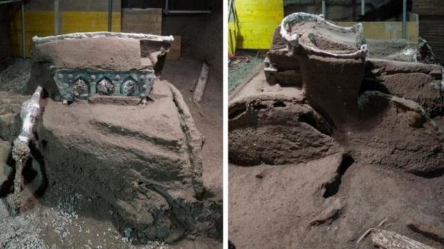 İtalyada 2 bin yıllık tören arabası bulundu
