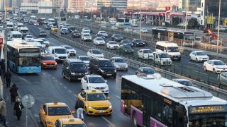 Kısıtlamanın ardından İstanbul'da trafik yoğunluğu arttı