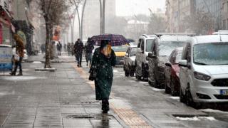 Muş'ta kar etkili oldu