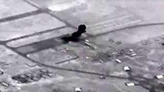 ABD, İran'ın Ayn el-Esed'e düzenlediği füze saldırısının görüntülerini yayımladı