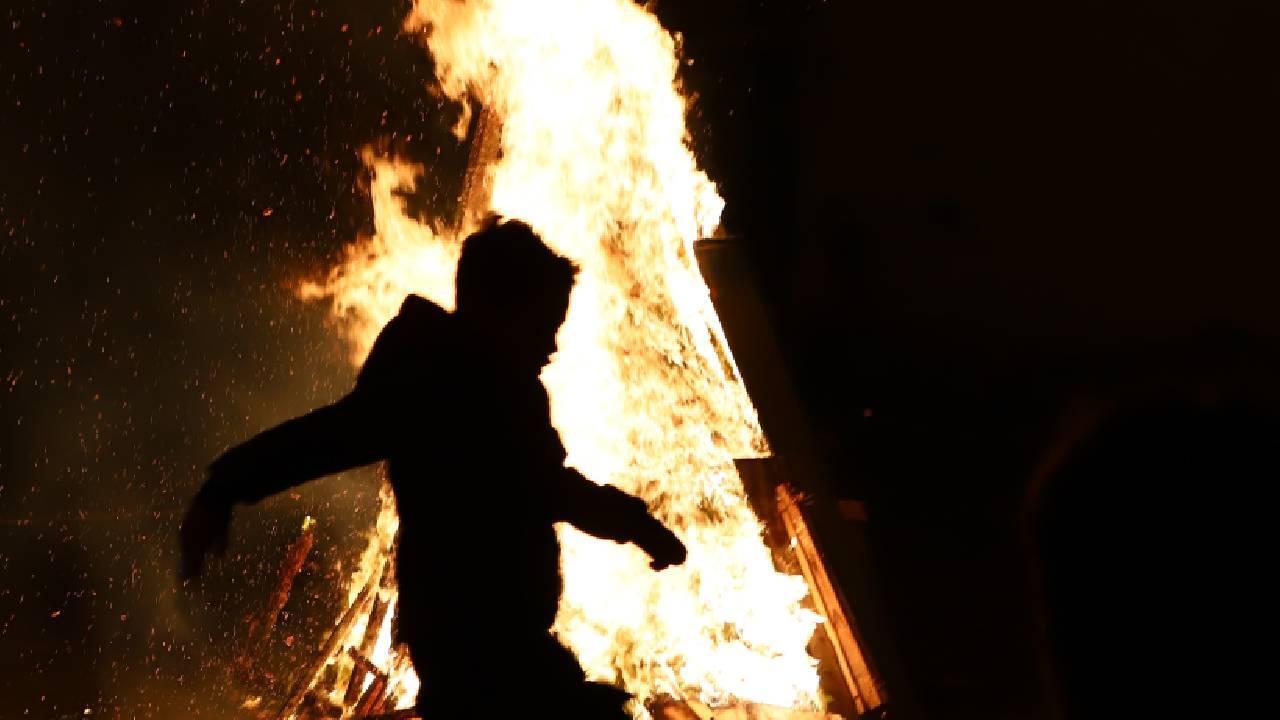 Azerbaycan'da ateş çarşambası kutlandı