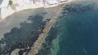 Bodrum'da deniz çekildi, tarihi kral yolu ortaya çıktı