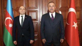 Bakan Çavuşoğlu, Azerbaycan Kültür Bakanı Kerimov ile görüştü