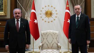 Cumhurbaşkanı Erdoğan, Şentop'u kabul etti