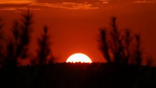 Gaziantep'te güneşin batışı