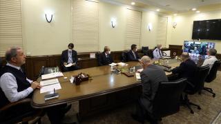 Akar'dan birlik komutanları ile video konferans toplantısı