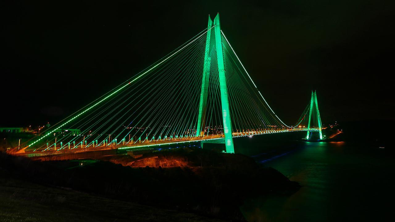 Köprüler yeşile büründü