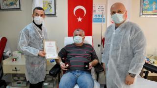 Sinop'un Can ağabeyi 36 yıldır kan bağışlayarak hastalara can oluyor