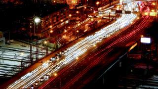 Moskova'da akşam trafiği havadan görüntülendi