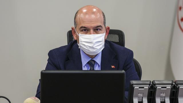 İçişleri Bakanı Soylu, valilerle Covid-19 salgınına yönelik tedbirleri değerlendirdi