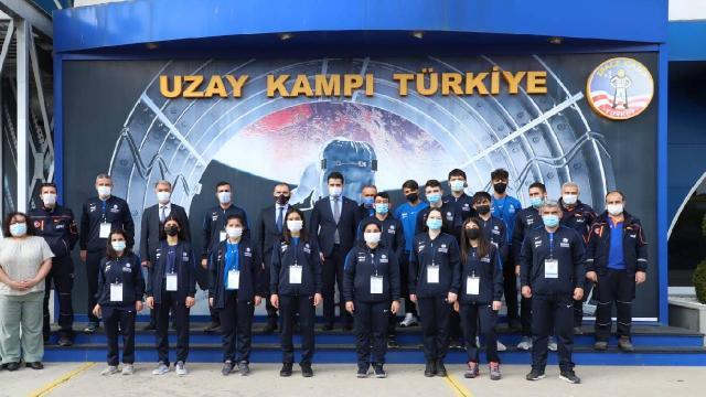 AFAD gönüllüsü genç sporcular Uzay Kampı Türkiyeyi ziyaret etti