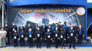 AFAD gönüllüsü genç sporcular Uzay Kampı Türkiye'yi ziyaret etti