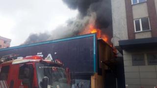 İstanbul'da mobilya fabrikasında yangın