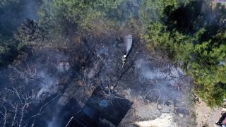 Bodrum'da konteynerde çıkan yangın söndürüldü