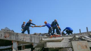 AFAD ekipleri, zorlu tatbikatlarla olası afetlere hazırlanıyor