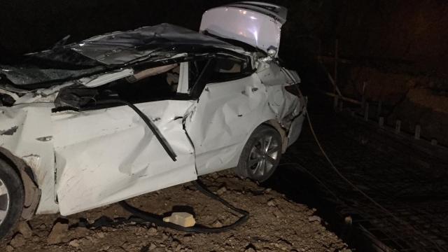 Bursada otomobil fabrika inşaatına düştü: 2 ölü