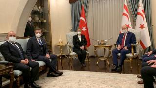KKTC Cumhurbaşkanı Tatar, Bakan Pekcan'ı kabul etti