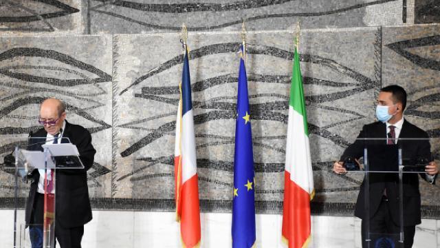 Romada İtalya ve Fransa dışişleri bakanları görüştü