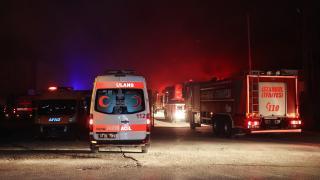 İstanbul'da et üretimi yapılan fabrikada yangın