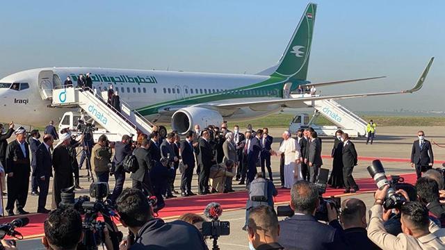 Irak ziyaretine devam eden Papa, Erbile geldi