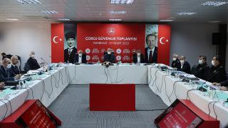 Bakan Soylu'dan Tekirdağ'da güvenlik toplantısı