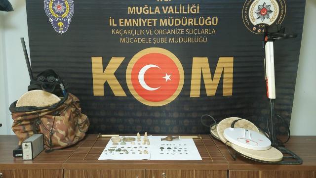 Muğlada tarihi eser operasyonu: 3 gözaltı