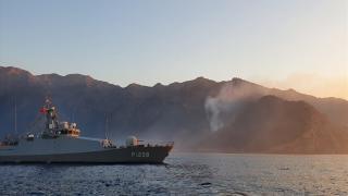 Orman yangını, çıkarma gemileri ve İHA'lar sayesinde söndürüldü