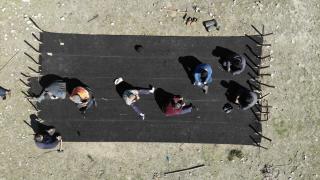 Yörüklerin göç öncesi çadır hazırlığı başladı