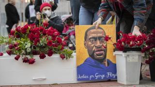 George Floyd davası öncesi yürüyüş yapıldı