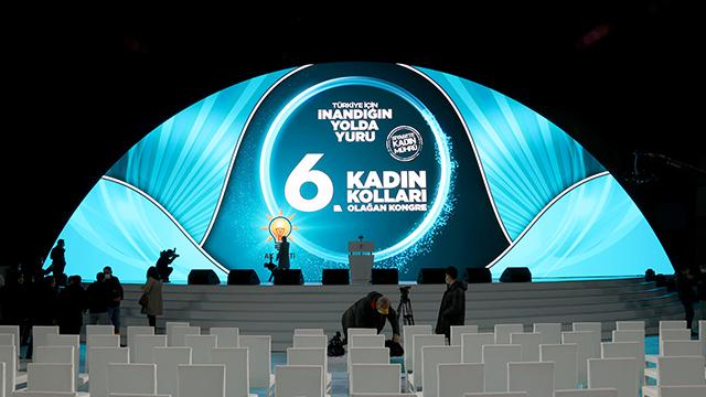 AK Parti Kadın Kolları Kongresi bugün Ankarada yapılacak