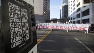 ABD'de Floyd davası öncesi halk sokaklarda