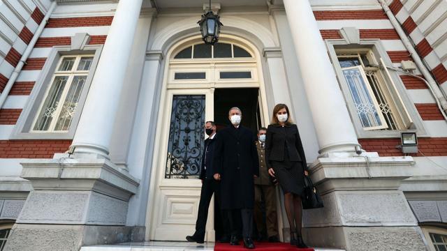 Bakan Akardan Türkiyenin Bükreş Büyükelçiliğine ziyaret