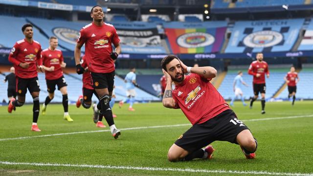 Manchester United Manchester Citynin galibiyet serisini bitirdi