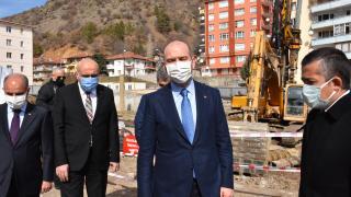 İçişleri Bakanı Soylu, Kızılcahamam'daki Vilayetler Evi projesini inceledi
