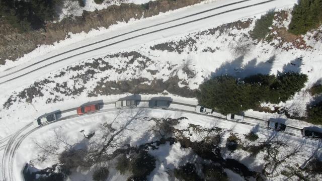 Düzcede off-road tutkunları kar safarisiyle adrenalin coşkusu yaşadı
