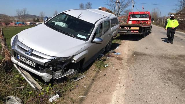 Bartında trafik kazası: 1 ölü, 2 yaralı