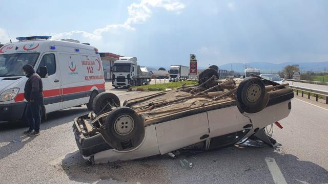 Susurlukta trafik kazası: 1 yaralı