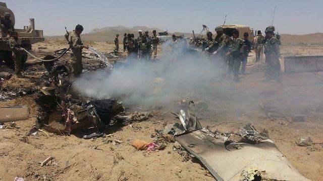 Afganistanda askeri helikopter düştü: 9 ölü