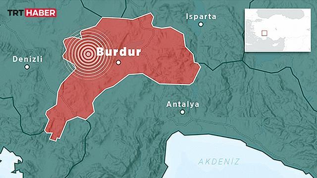 Burdurda 3,7 büyüklüğünde deprem