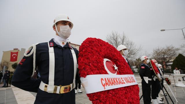 Şehitleri Anma Günü ve Çanakkale Deniz Zaferinin 106. yılı törenleri başladı