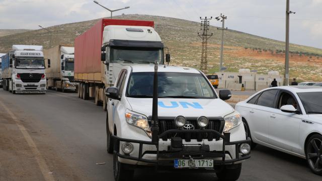 Birleşmiş Milletler, İdlibe 83 tır gıda ve çadır yardımı gönderdi